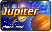 Jupiter phone card from ComFi