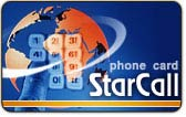 StarCall calling card